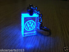 Crystal blue led light car keychain for VOLKSWAGEN keyring Passat Golf Jetta