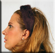 New Plum Rabbit Fur Hair Band Headband - Efurs4less