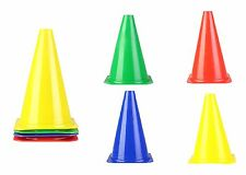 "OSG Colored Traffic Cones Soccer Training Boundary Marker Cones Size 6"" SET OF 4"