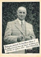 PUBLICITE ADVERTISING 064  1955  PATAUGAS   brodequin souple MR  RENE ELISSABIDE