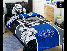 SINGLE BED STAR WARS KIDS Storm TROO LICENSED QUILT DOONA COVER SET + PILLOWCASE