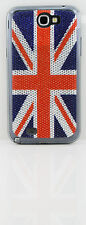 Bling Diamante Sparkling British 3D Shiny Flag Stickers for the galaxy note 2