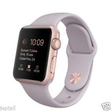 Apple Watch 38mm Rose Gold Aluminum Case Lavander Sport Band MLCH2 Jeptall