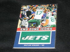 BRAYLON EDWARDS 2011 PACK PULLED AUTHENTIC END ZONE ICONS FOOTBALL INSERT CARD