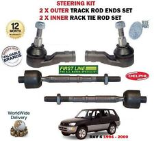 FOR TOYOTA RAV 4 2.0 1994- 2X OUTER + 2X INNER STEERING TRACK RACK TIE ROD END