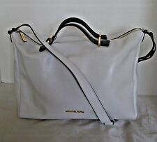 Michael Kors -  Chelsey Large Convertible Leather Shoulder Bag -  White / Black