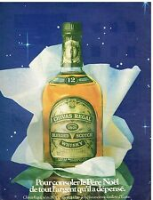 Publicité Advertising 1982 Scotch Whisky Chivas Regal