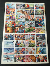 1951 Bowman Jets Rockets And Spacemen Final Series Printers Proof Uncut Sheet 36