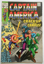 CAPTAIN AMERICA #120 - DEC 1969 - NICK FURY APPEARANCE! - FN/VFN (7.0) CENTS