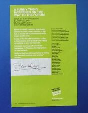 THEATRE FLYER A FUNNY THING HAPPENED TO FORUM SIGNED BY SAM KELLY [ PORRIDGE ]