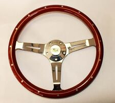 "Bronco F100 F250 F350 Torino Steering Wheel Wood 15"" Classic Style Ford Center"