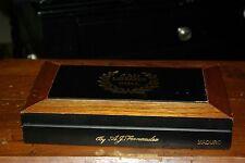 H. J. Fernandez San Lotano Oval Maduro Robustos Wooden Cigar Box  Empty holds 20