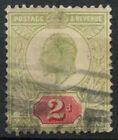 GB KEVII 1902-13, 2d Green And Red Used #D8549