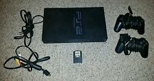 Sony PlayStation 2 Fat Charcoal Black Console PS2 Tested Works