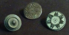3 SMALL ANTIQUE BUTTON CENTURY XVIII OLD BOUTON BUTTON BOTON SEE MY SHOP CCB38