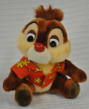 "CHIP & Dale HAWAIIAN Shirt CHIPMUNK Rescue RANGERS Disney 8"" STUFFED Animal VTG"