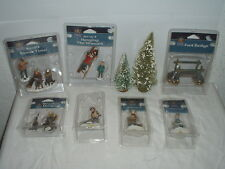 Lot 9 Lemax Carole Towne Accessories People,Trees,Bridge