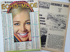 ECHO DE LA MODE N°1 1966 // + SUPPLEMENT J.O GRENOBLE 1968