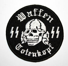 MILITARY SLEEVE PATCH SKULL
