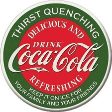 "3"" ROUND THIRST QUENCHING DRINK COCA-COLA REFRIGERATOR MAGNET NEW"