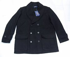 $595.00 POLO RALPH LAUREN WOOL-BLEND DOUBLE BREASTED PEACOAT  NWT (X-LARGE)
