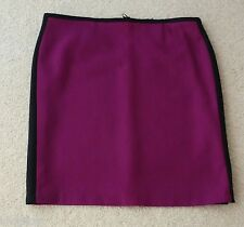 Ladies M&S Size 20 Premium Fabric Knee Length Pencil Skirt Bnwt 24L Magenta