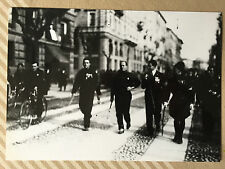 ww2 photos press  , Mussolini et les chemises noires . Marche sur Rome 1922