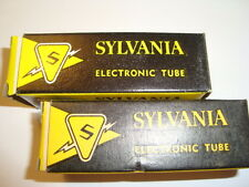 One Matched Pair of 12BH7A Tubes, Sylvania Red Label
