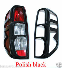 POLISHED BLACK TAIL REAR LIGHT LAMP COVER FOR NISSAN NAVARA D40 2005-2014 OUTLAW