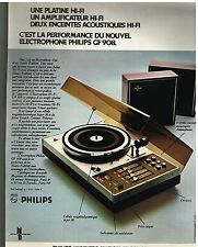 Publicité Advertising 1972 Nouvel electrophone Philips GF 908