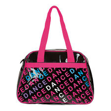 Pink & Black Capezio Letter Bag Dance Bag with Carry Handle