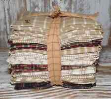 20 Fat Quarters Country Fabric Tan Green Burgundy Navy Sewing Quilts Craft