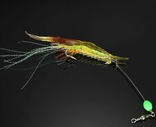 10PCS Fishing Soft Shrimp Prawn Worm Bait Lure Saltwater Squid Night Glow