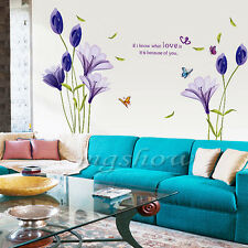 Love Flower Removable Vinyl Decal Wall Sticker Mural DIY Art Room Home Decor New