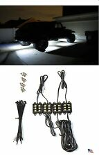 4 Pod Under Body Car LED Rock Light Kit Underglow White Beam Offroad 4WD Jeep