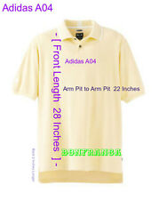 B3 Tag Size S Fits L Adidas A04  Butter white Men climalite Inter 3 Stripes Polo