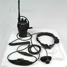 FBI VOX Big PTT Military Tactical Throat Mic Headset For BAOFENG UV5RE Plus A094
