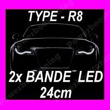 BANDE A LED SOUPLE BLANCHE PHARE FEUX DE JOUR DIURNE BLANC XENON DECOUPABLE 12 V
