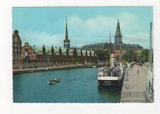 Kobenhavn Borsen og Christiansborg Slot Denmark Postcard 577a