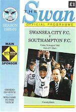 Swansea v Southampton FC amigable 7 de agosto 1992 en muy buena condición