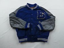 Used Wear Vtg Coleman Football Wool Leather Varsity Letterman Jacket Coat Sz 42
