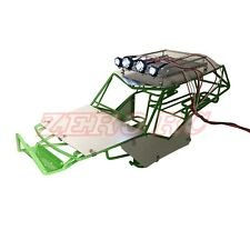 METAL ROLL CAGE FRAME BODY W/ ROOF RACK AND METAL SHEETS FOR AXIAL WRAITH GREEN