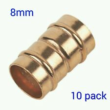 8mm Straight coupler Solder Ring Copper Pipe Fitting - Pack of 10