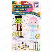 MONSTER/PRINCESS ACTIVITY STICKERS Mix & Match Craft Sheet Cards Boys/Girls Game