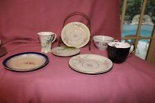 MIXED VINTAGE/ANTIQUE Lot of SMALL SAUCERS  PLATES and CUPS 7 pc.