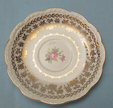 STETSON AMERICAN BEAUTY FLORAL SAUCERS - 22 KT GOLD - 2