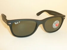 New RAY BAN Sunglasses Matte Black Rubber WAYFARER RB 2132 622/58 Polarized 55mm