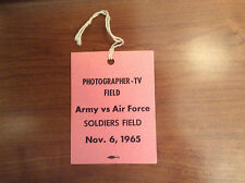 VINTAGE 1963 AIR FORCE vs ARMY PHOTOGRAPHER-TV UNUSED FIELD GAME TICKET/PASS