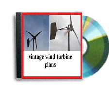Activité de revente vintage wind turbine plans dvd rom package deal