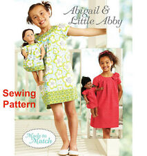 "Kwik Sew K3905 Pattern Girls/18"" Dolls Made to Match Dresses XS-XL BN"